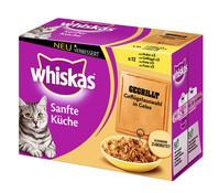 Whiskas® Sanfte Küche Multipack, Nassfutter 12x85g