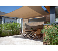 Windhager Sonnensegel SunSail Riviera Quadrat, 3,6 x 3,6 m