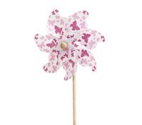 Windrad Schmetterling, rosa/lila/weiß