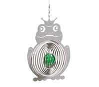 Windspiel Frosch mit grüner Kugel
