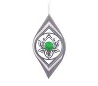 Windspiel Lotus mit grüner Kugel
