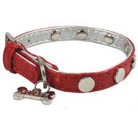 Wouapy Hundehalsband Luxury Fantasy Rivets, Rot