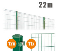 Zaun-Komplettpaket MICHL, 22 m lang