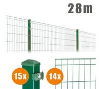 Zaun-Komplettpaket MICHL, 28 m lang