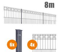 Zaun-Komplettpaket PISA, 8 m lang