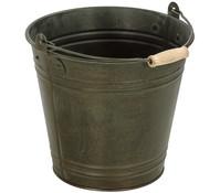 Zink-Eimer mit Henkel, grau-bronze