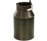 Zink-Kanne mit Henkel, grau-bronze
