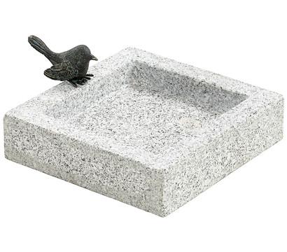 Dehner Granit-Vogeltränke, 25 x 10 x 25 cm