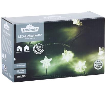 Dehner LED-Lichterkette 'Stern' 60 LEDs, warmweiß