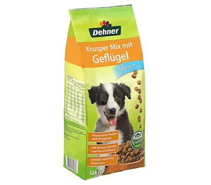 Dehner Trockenfutter Knusper Mix Geflügel Junior