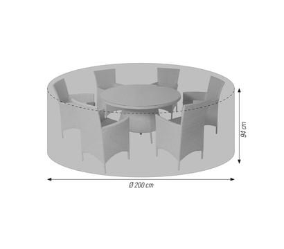 acamp Schutzhülle cappa, für runde Sitzgruppen Ø 200 x 94 cm