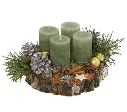 Adventsgesteck mit 4 Kerzen