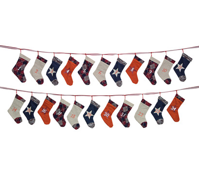 Adventskalender Socke Textil, 260 cm