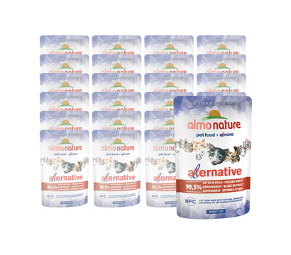 Almo Nature Alternative Adult Cat, Nassfutter, 24 x 55g