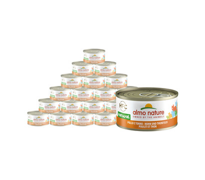 Almo Nature Nassfutter HFC Natural, 24 x 70 g