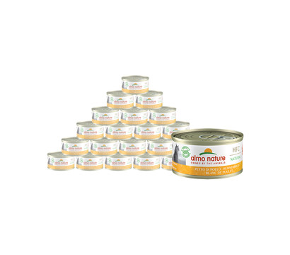 almo nature Nassfutter HFC Natural Hühnerbrust, 24 x 70 g