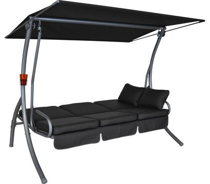 angerer hollywoodschaukel primero grau 3 sitzer dehner. Black Bedroom Furniture Sets. Home Design Ideas