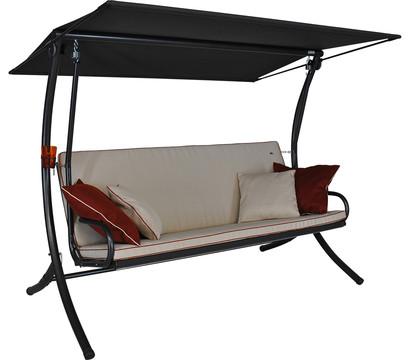angerer hollywoodschaukel royal style creme 3 sitzer dehner garten center. Black Bedroom Furniture Sets. Home Design Ideas