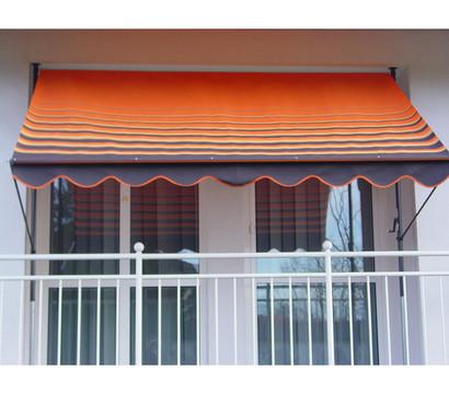 Angerer Klemmmarkise, Design 200 orange-braun, unterschiedliche Breiten