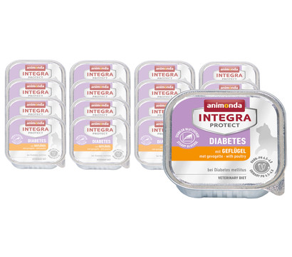 animonda INTEGRA PROTECT Nassfutter Diabetes, 16 x 100g