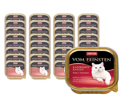 animonda VOM FEINSTEN Nassfutter für kastrierte Katzen, 32 x 100g