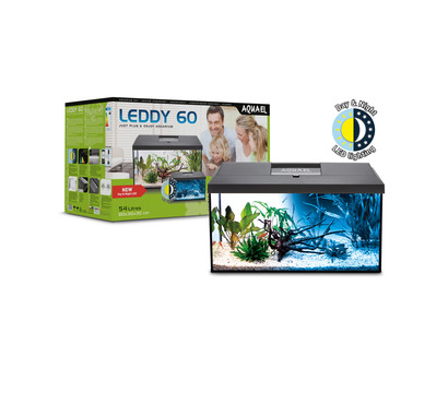 AQUAEL Aquarien-Set Leddy Day & Night 60