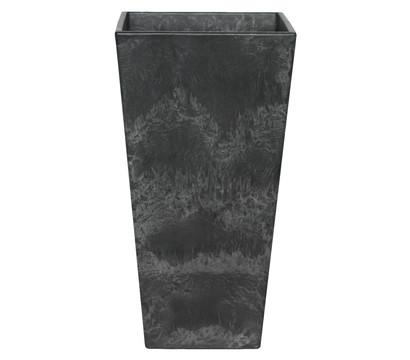 Artstone Kunststoff-Vase Ella, eckig, schwarz