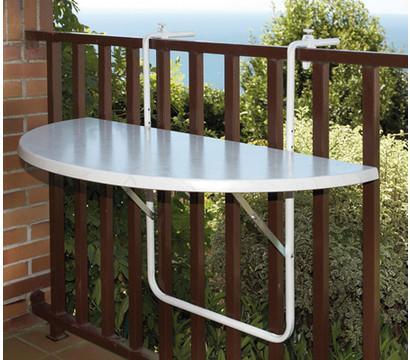 Balkonhängetisch halbrund, 100 x 50 cm