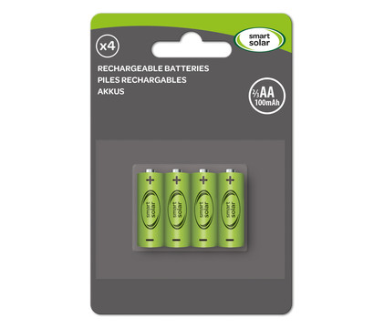 Batterien 2/3 AA 100mAh, 4-er Pack