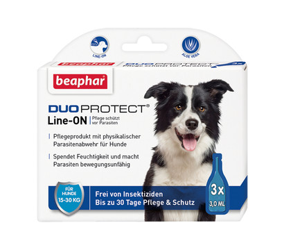 beaphar Fellpflege DUOPROTECT Line-ON Hund (15-30 kg), 3x3ml