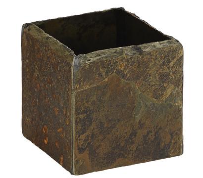 Übertopf 'Cubi' aus Echtschiefer