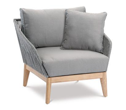 Best Loungesessel Samos, 87x77x80 cm, Grandis-Hartholz, grau