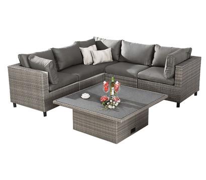 Best Lounge-Set Bonaire, warm-grey, 6-teilig