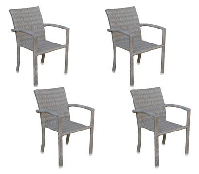 best stapelsessel samoa 4er set dehner garten center. Black Bedroom Furniture Sets. Home Design Ideas