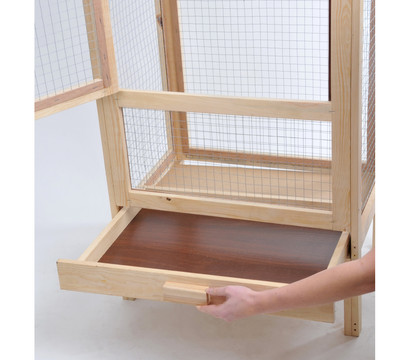 bird dream holzvoliere mit bitumen dach dehner garten center. Black Bedroom Furniture Sets. Home Design Ideas