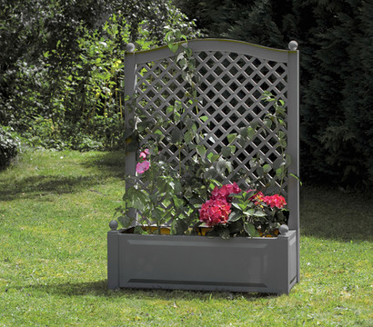 blumenkasten mit spalier anthrazit 100 x 43 x 140 cm dehner garten center. Black Bedroom Furniture Sets. Home Design Ideas