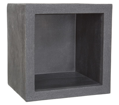 blumenk bel aus kunststoff anthrazit eckig dehner garten center. Black Bedroom Furniture Sets. Home Design Ideas