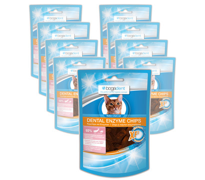 bogadent Dental Enzyme Chips Fish, Katzensnack, 8 x 50g