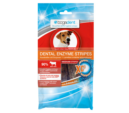 bogadent Dental Enzyme Stripes Medium, Hundesnack, 100g