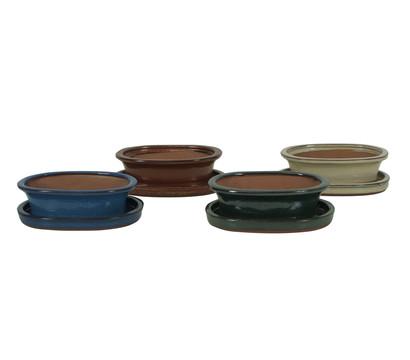 bonsai topf unterschale oval blau 12 cm dehner. Black Bedroom Furniture Sets. Home Design Ideas