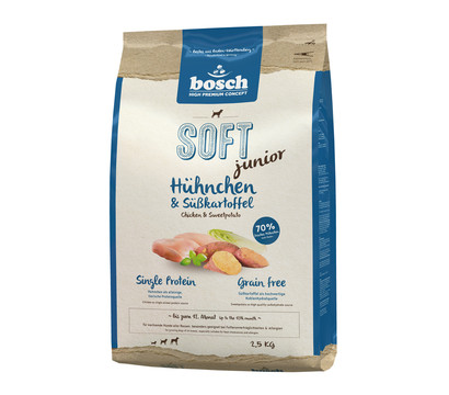 bosch Trockenfutter Soft Junior Hühnchen & Süßkartoffel