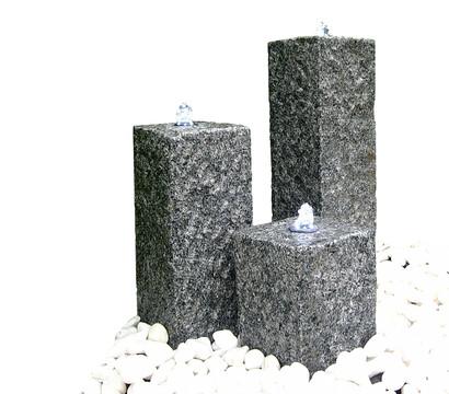 dehner brunnen set 3 s ulen granit 25 35 45 x 14 x 14 cm dehner garten center. Black Bedroom Furniture Sets. Home Design Ideas