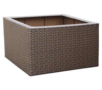 brunnen und topfumrandung aus polyrattan geflecht eckig. Black Bedroom Furniture Sets. Home Design Ideas
