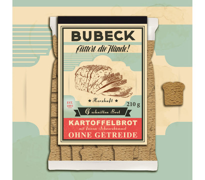 Bubeck G'schnitten Brot, Hundesnack, 210g