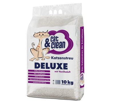 Cat & Clean Katzenstreu Deluxe mit Vanilleduft