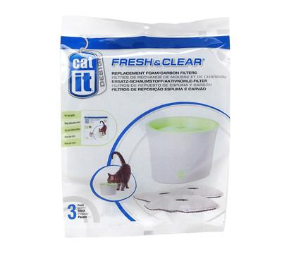 Catit Ersatzfilter für Fresh & Clear Trinkbrunnen, 3 Stück