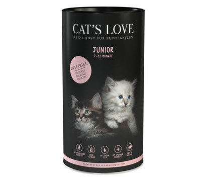 CAT'S LOVE Trockenfutter Junior Geflügel, 6 x 1kg