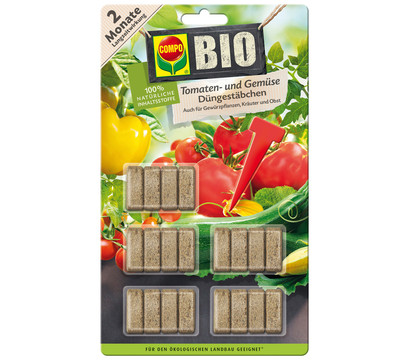 COMPO BIO Tomaten- und Gemüsedüngestäbchen, 20 Stk.