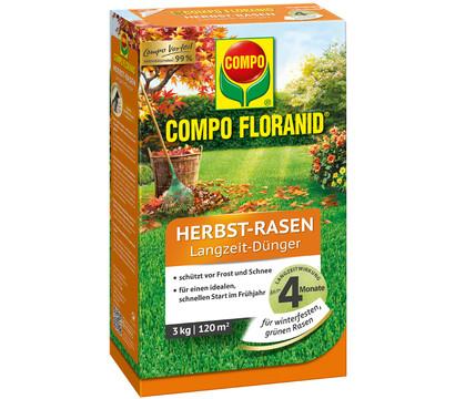 compo floranid herbst rasen langzeitduenger 3 kg dehner. Black Bedroom Furniture Sets. Home Design Ideas