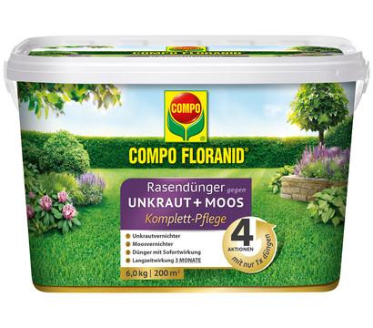 COMPO Floranid® Rasendünger gegen Unkraut + Moos 4in1